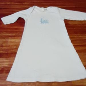 Girl baby white and blue Easter dress